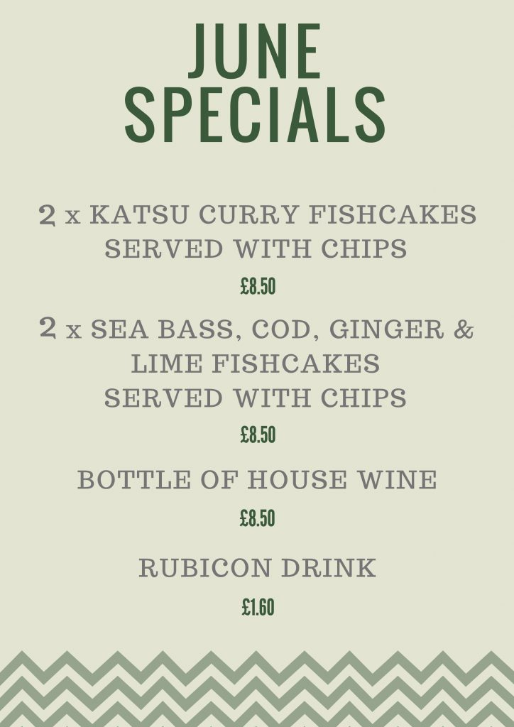 Fish n Fritz - Monthly specials - June 2018