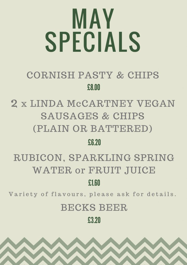May Monthly Specials
