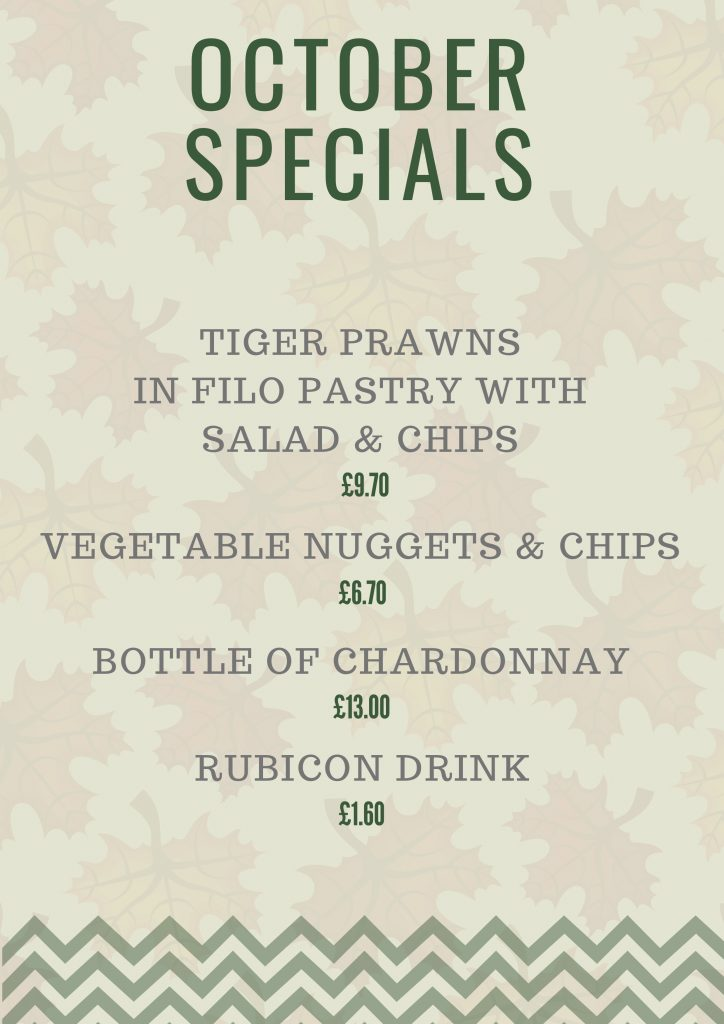 Fish n Fritz - Monthly specials - October 2018
