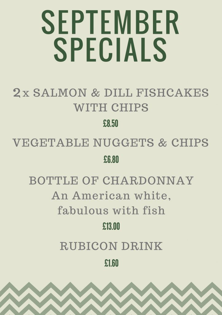 Fish n Fritz - Monthly specials - September 2018