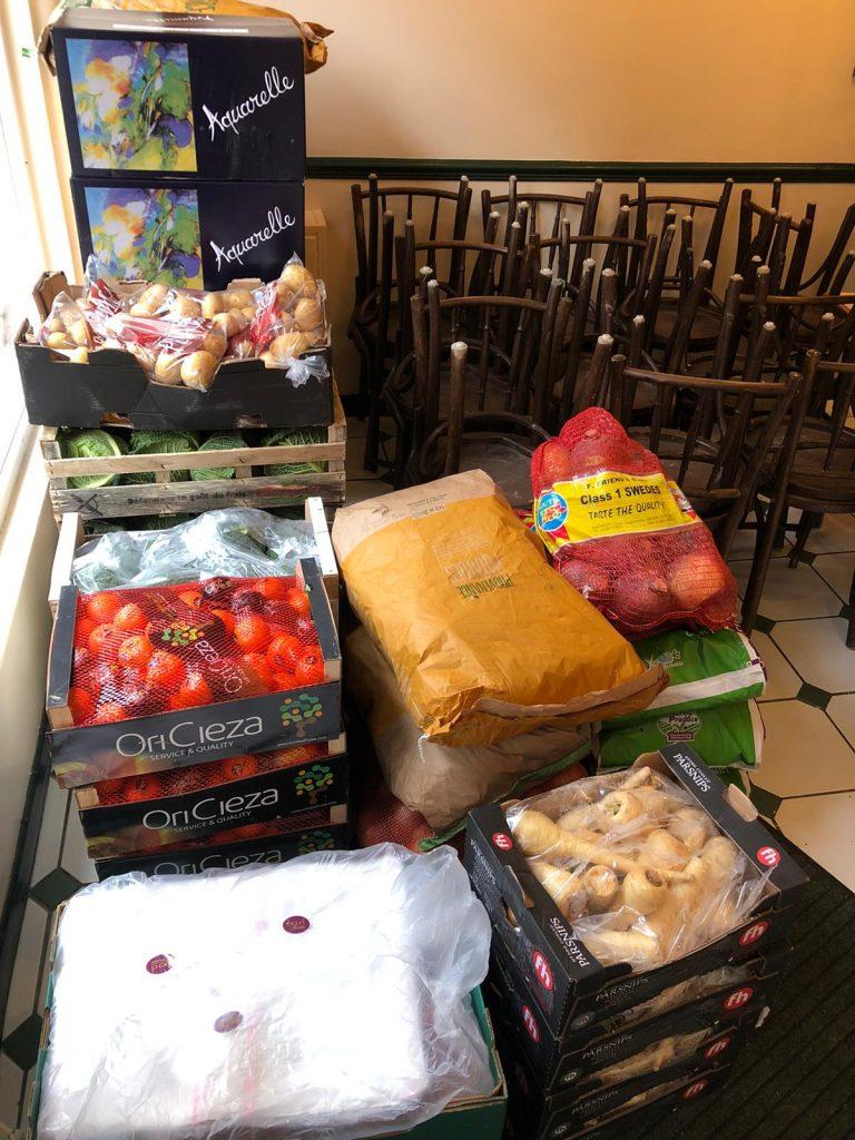 Boxes of food at Fish 'n' Fritz