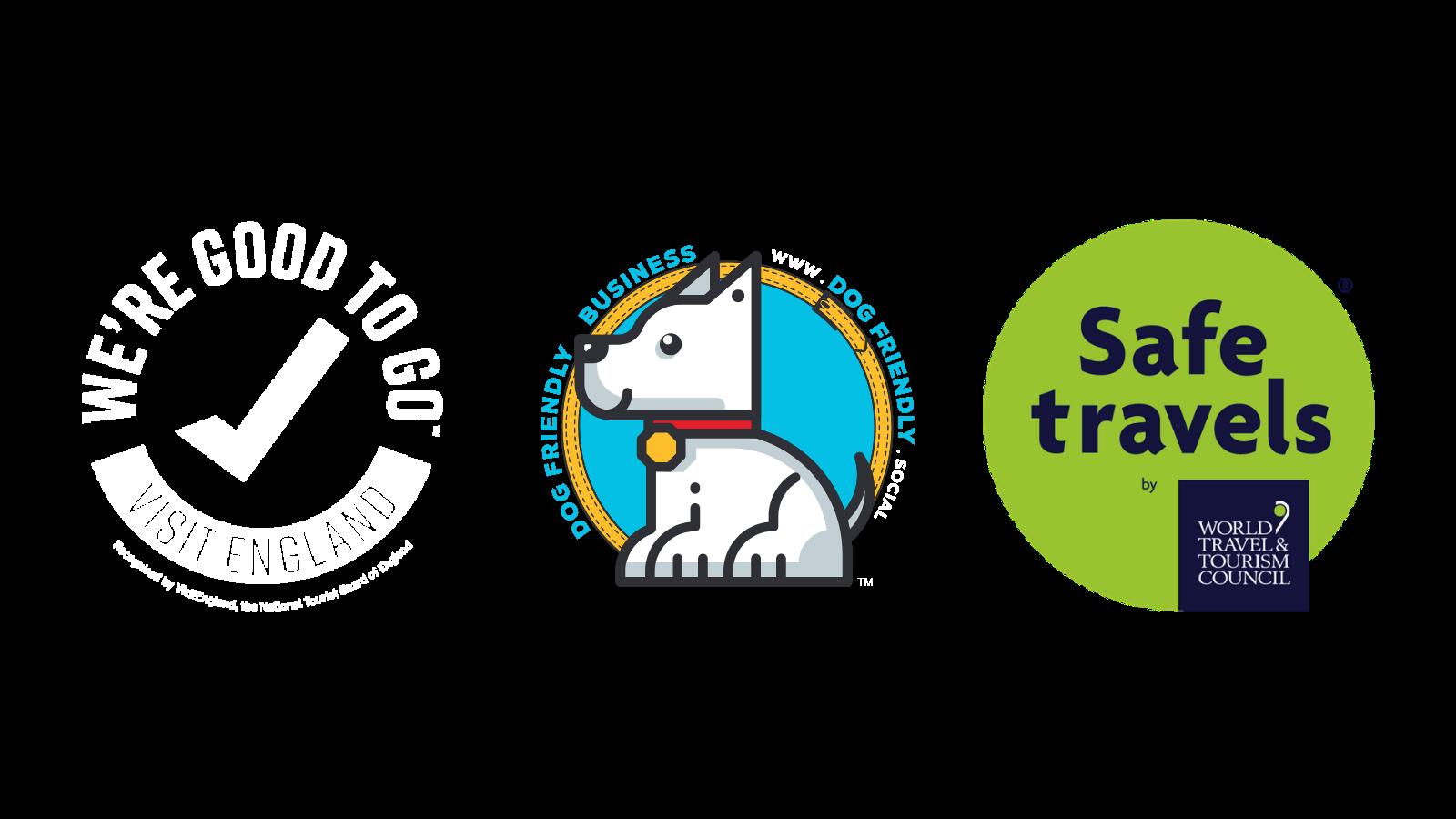We're Good To Go & Safe Travels logo