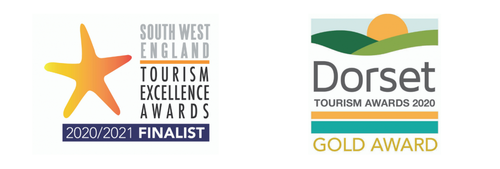 South West Tourism Awards Finalist And Dorset Tourism Awards Gold Winner Logo